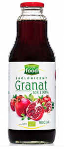 SOK Z GRANATU BIO 1000ML 100% LOOK FOOD