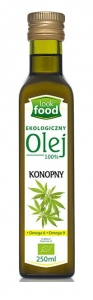 OLEJ KONOPNY Z NASION KONOPI LOOK FOOD 250ML